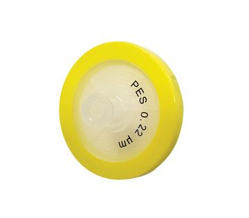 0.45µm Syringe Filter, Cellulose Acetate (Sterile), Yellow, diam. 33 mm